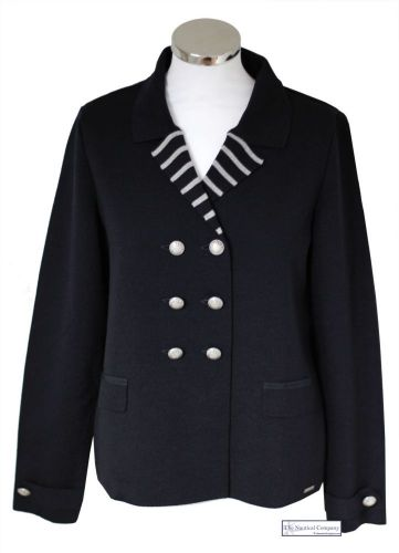 Women's Nautical Tailored Knit Blazer (only UK 14 - FR 42 - US 10 left)
