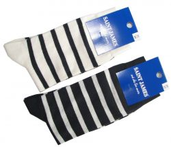 Saint James Cotton Striped Socks