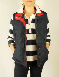 Women's Navy Blue Quilted Gilet