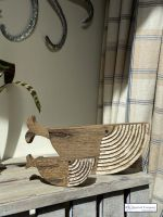 Contemporary Wooden Mum and Baby Whale Art