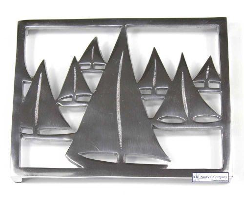 Art Décor: Nautical Yachts/Boats Trivet, Coastal Hot Plate Stand