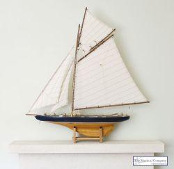 Large Gaff Rigged Sailing Boat Model