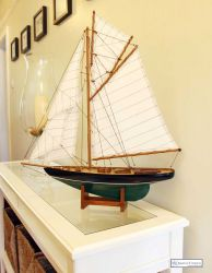 Painted Model Boat - The Pen Duick