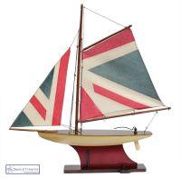 Union Jack Sailing Boat Model