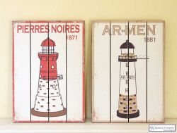 Lighthouse Wall Decor Plaque, AR-MEN