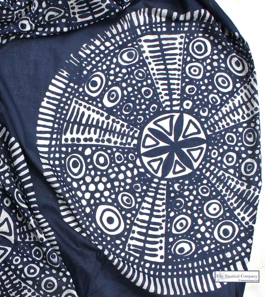 Sand Dollar Cotton Print Scarf The Nautical Company Uk
