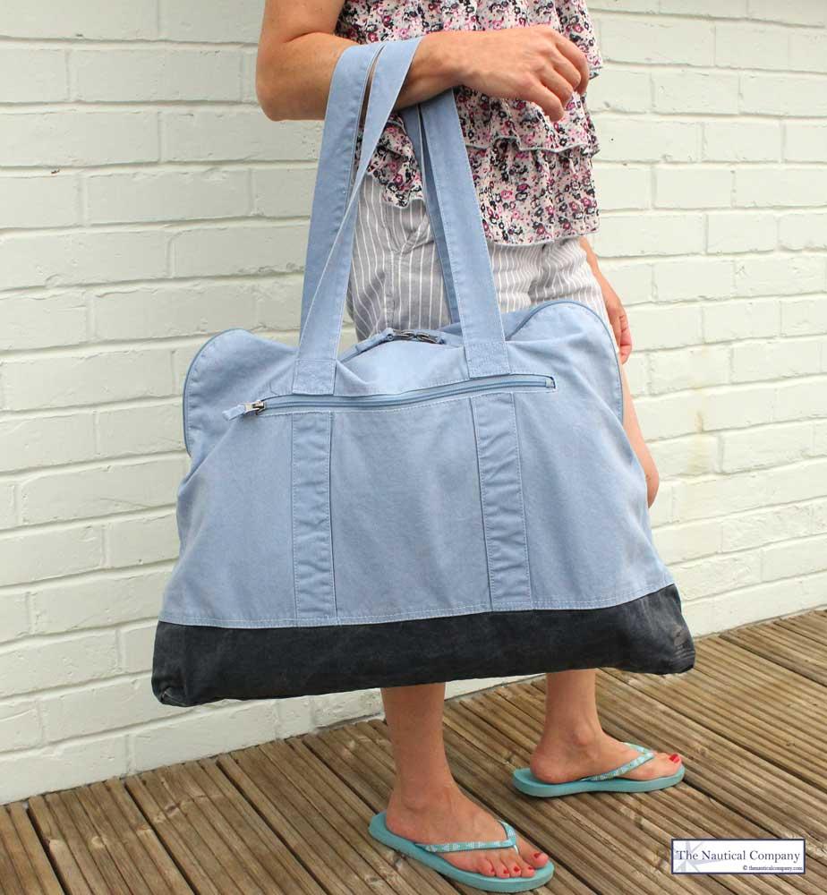 Art Décor: Large Canvas Beach Bag, Cornflower Blue