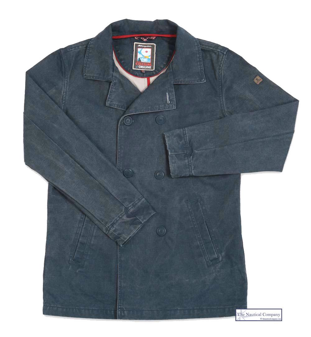 Art Décor: Men's Cotton Peacoat, Reefer Jacket, Canvas, Distressed