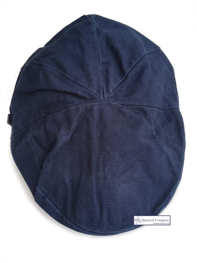 Waterproof Waxed Cotton Flat Cap Hat Navy Blue
