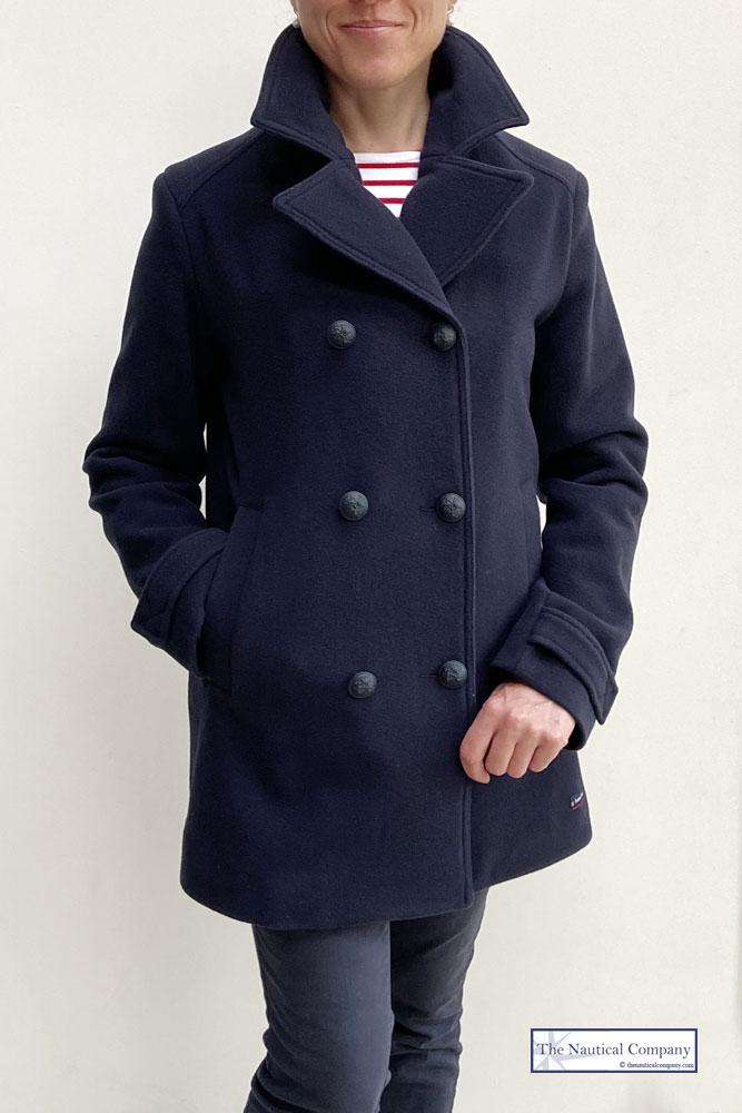 Women S Breton Pea Coat For Ladies, Womens Short Pea Coat Uk
