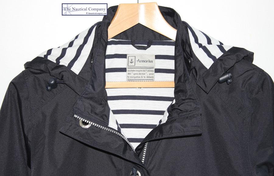 Ladies' Raincoat Waterproof Parka Jacket, Navy Blue, Lined, Armor ...
