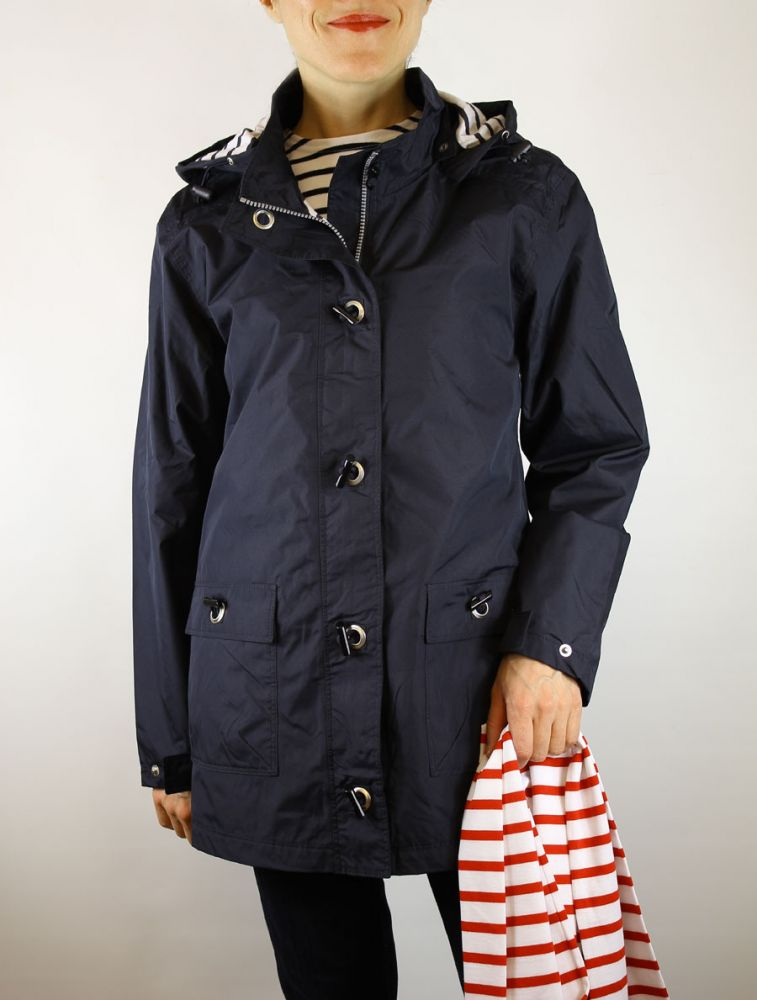 Ladies' Raincoat Waterproof Parka Jacket, Navy Blue, Lined, Armor ...
