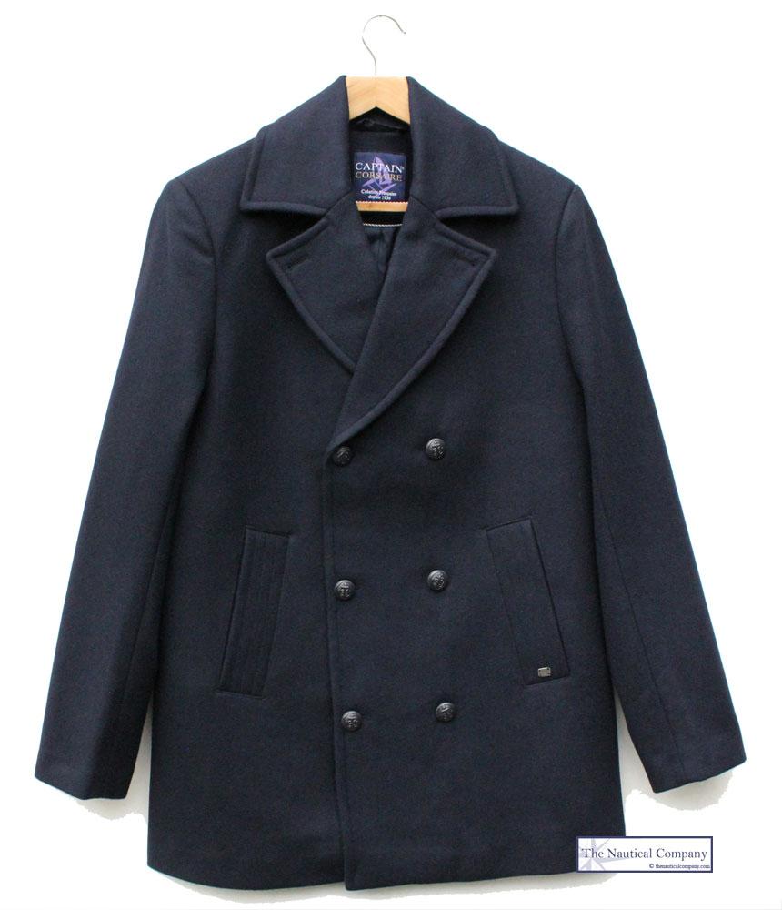 Authentic Men S Wool Peacoat Reefer Jacket Navy Blue