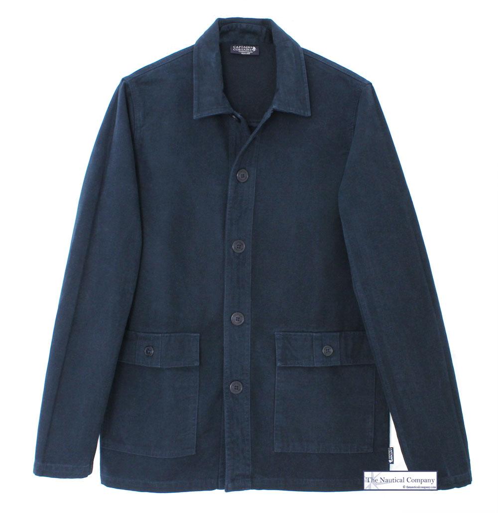 Men S Navy Blue French Chore Jacket Uk Work Bleu De