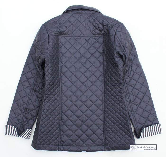 Women's Navy Blue Quilted Jacket, Lightweight - THE NAUTICAL ...