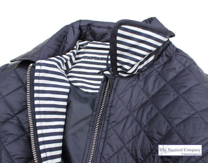 Women S Navy Blue Quilted Jacket Lightweight The