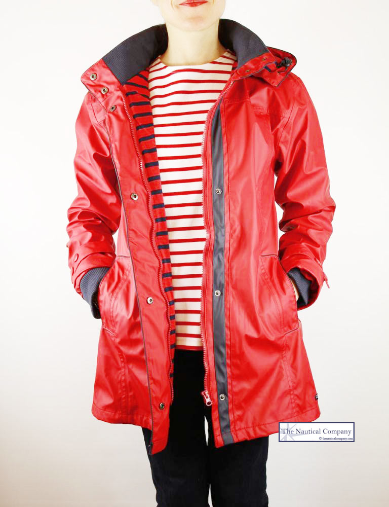 newest style of enjoy best price wide selection of designs Women's Raincoat Red, PU Waterproof Jacket for Ladies - THE ...