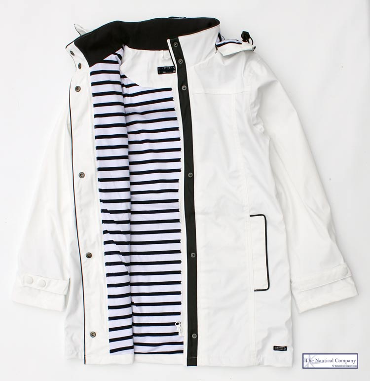 Women S Lined Raincoat White Waterproof Jacket Ladies