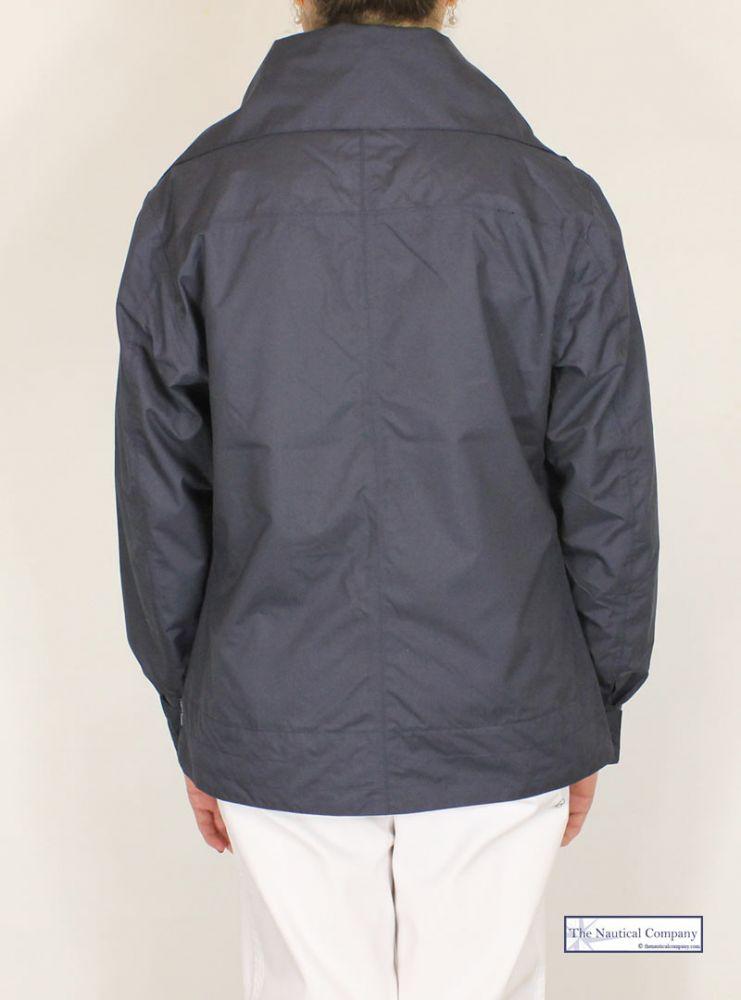Ladies' Summer Short Waterproof Jacket, Navy Blue - THE NAUTICAL ...