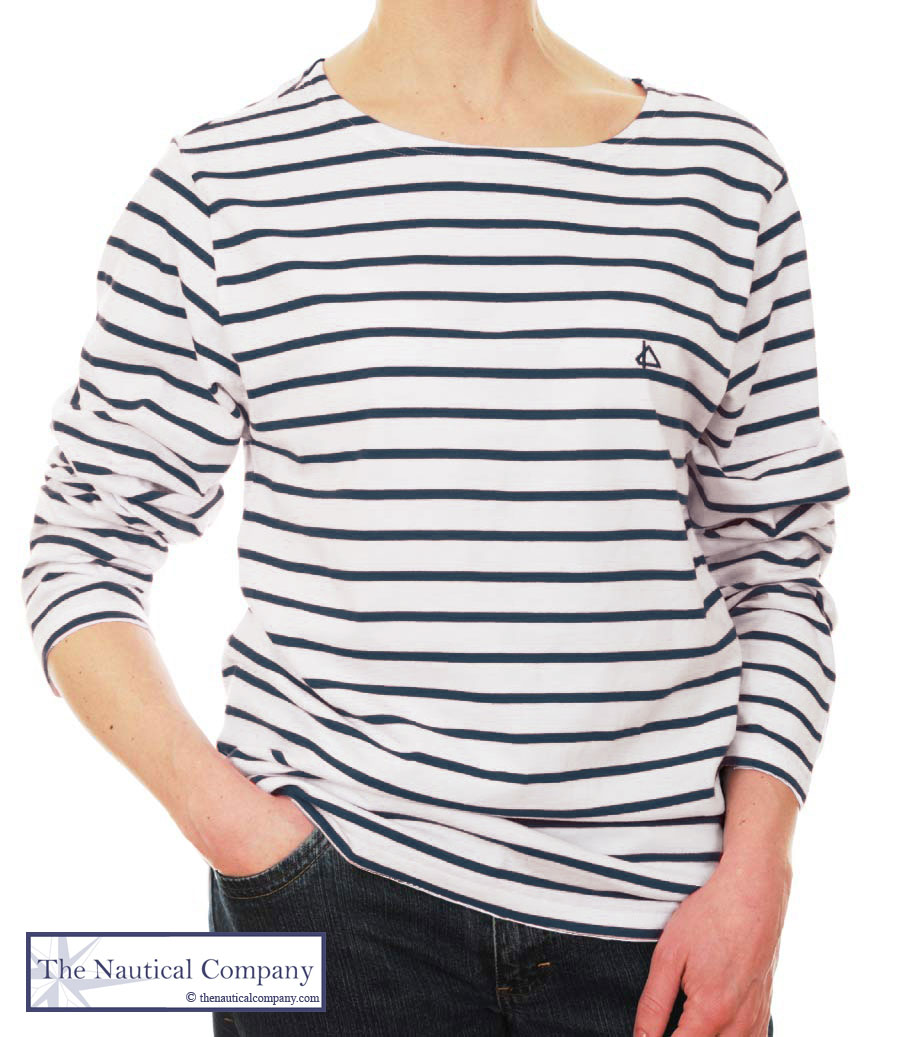 Women s White   Navy Striped Breton T-Shirt 1c7ac7791bb6