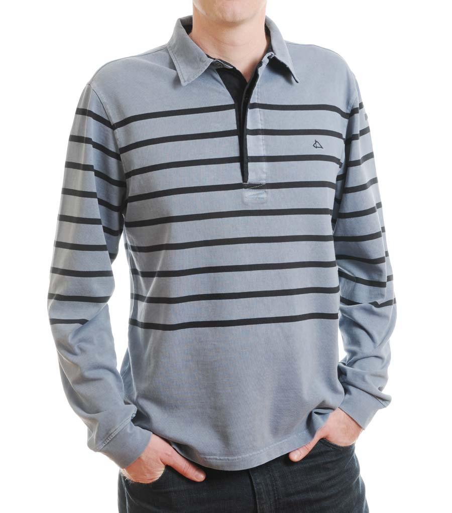 Men S Striped Rubgy Shirt Long Sleeve