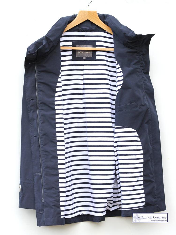 Women's Nautical Navy Blue Lined Waterproof Jacket Mat de Misaine ...