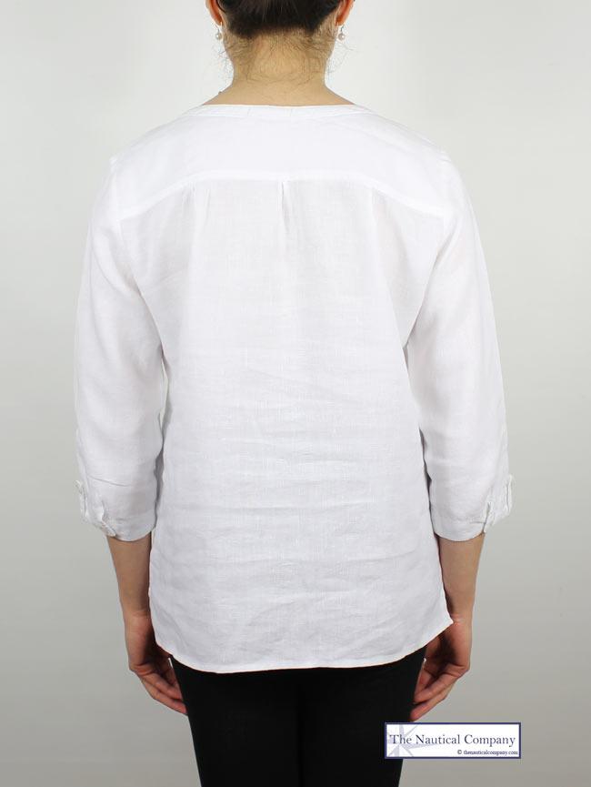 1787218c86 White Linen Blouse for Ladies by Mat de Misaine - THE NAUTICAL ...