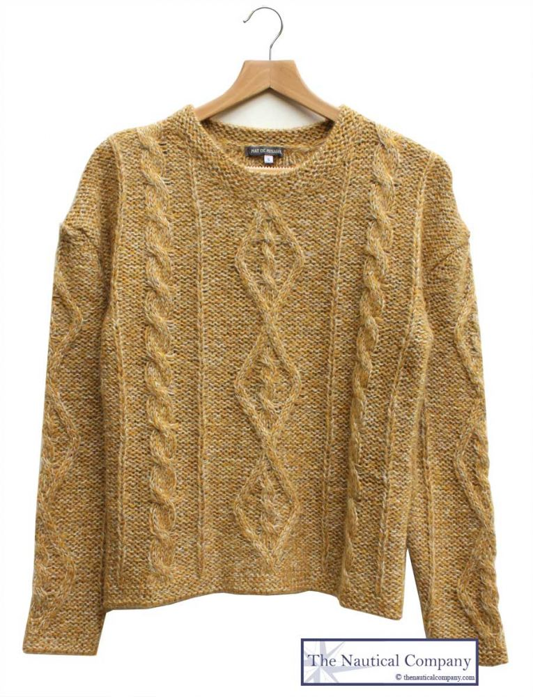 Women's Chunky Cable Knit Jumper for ladies, mustard sweater - THE ...