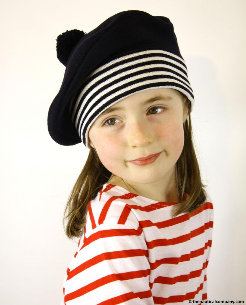 db782cd94f Children s Navy Blue Nautical Beret Hat
