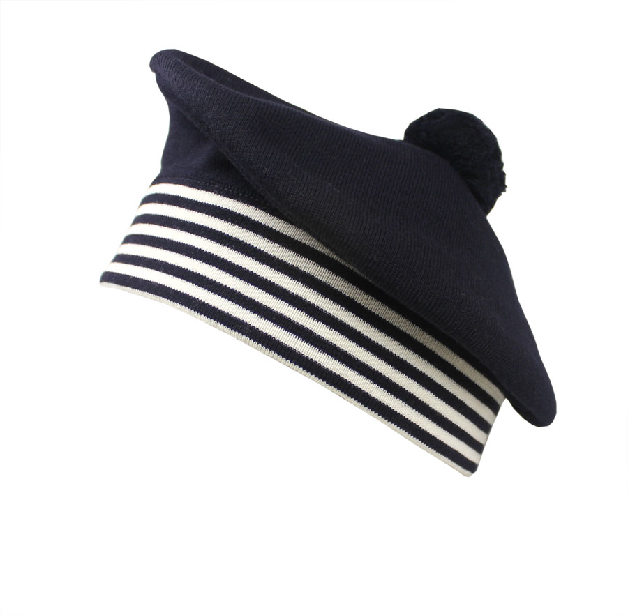 Children's Navy Blue Nautical Beret Hat | Sailor Beret ...