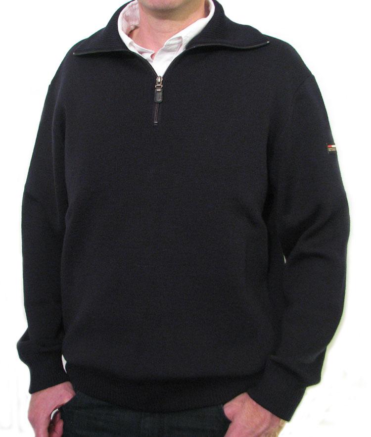 Navy Blue Wool Breton Sweater for Men & Women - THE NAUTICAL ...