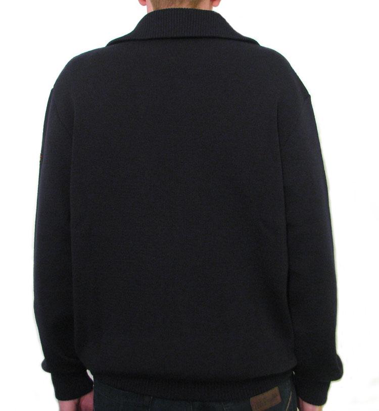 Art Décor: Mens' Sailing Half Zip Sweater, Wool Breton Jumper