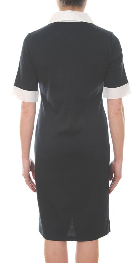 Polo Shirt Dress Navy Blue Short Sleeves Royal Mer