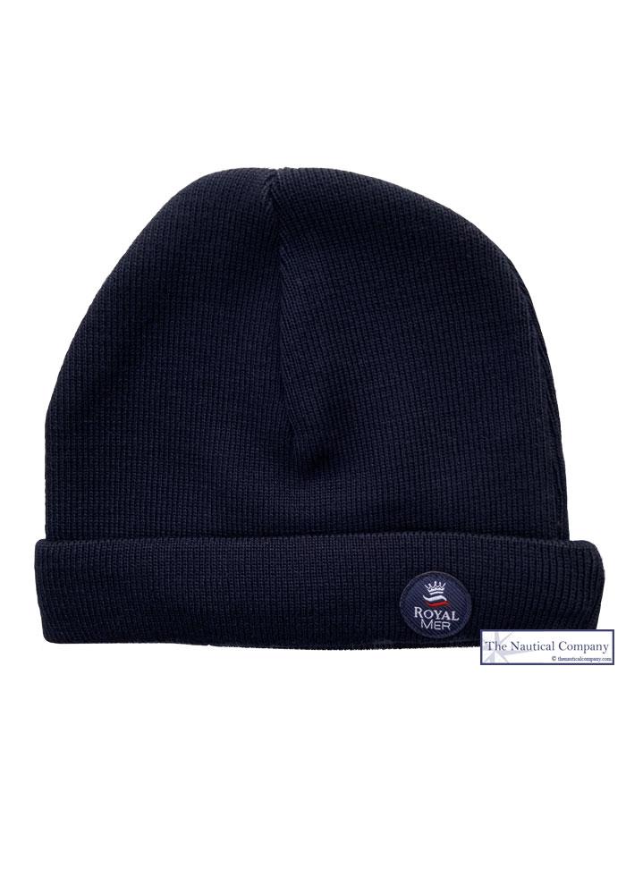 405a3281a Navy Blue Merino Wool Beanie Breton Hat - THE NAUTICAL COMPANY UK ...