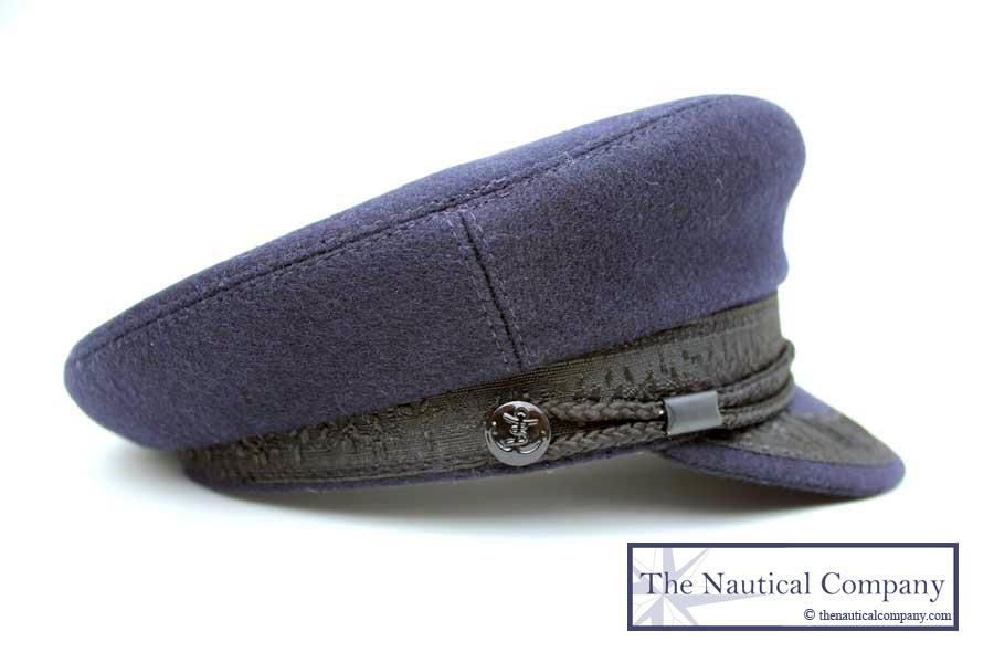Breton Hat Sailor Captain Hat Navy Blue Wool Casquette