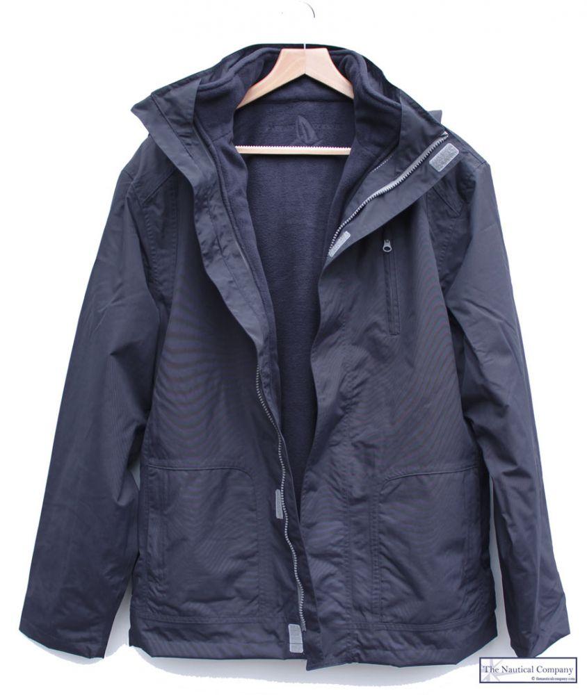 Men's Winter Waterproof Jacket, Navy Blue, Removable Internal ...