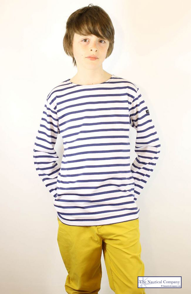breton tee shirt white navy blue stripes boys girls. Black Bedroom Furniture Sets. Home Design Ideas