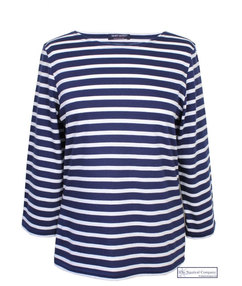 Saint james galathee breton stripe top tee shirt summer for Best striped t shirt