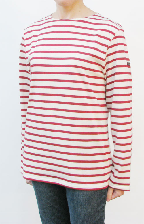 Cream red breton shirt striped for men women saint james for St james striped shirt