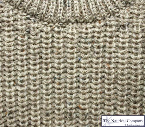 Fishermans Rib Jumper Oatmeal Wool Sweater The Nautical Company Uk