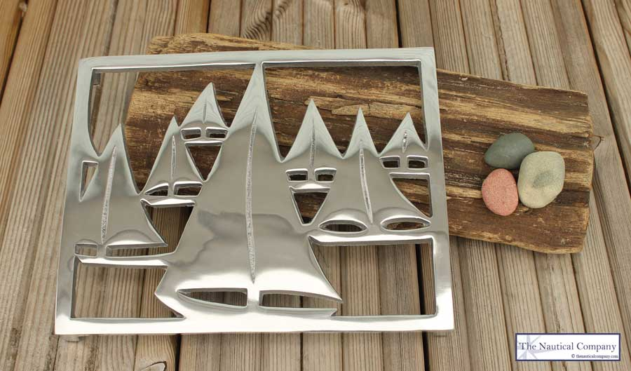 Nautical Yachts/Boats Trivet, Coastal Hot Plate Stand Kitchen - THE