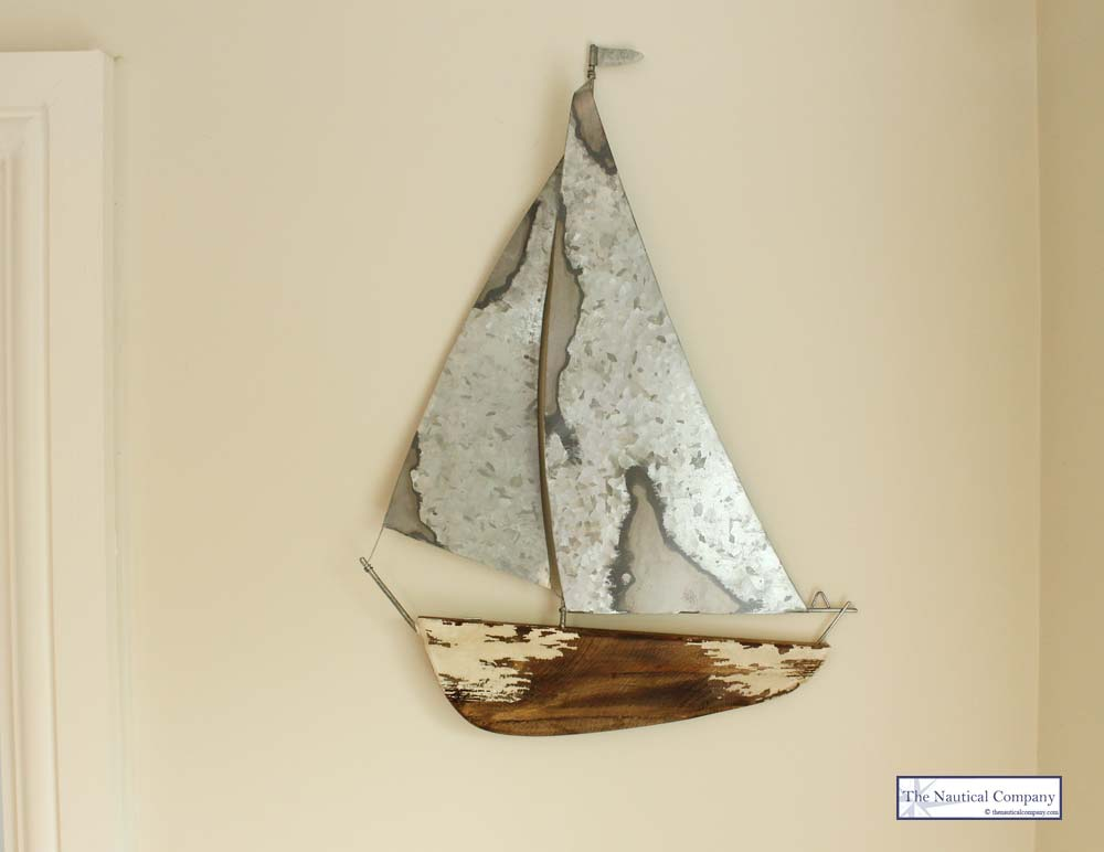 Top Wooden Sailboat Wall Decor - Wooden Designs FH02